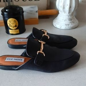 Black Mule Loafers (New)